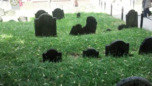 Old Granary Cemetery in Boston