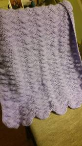Baby blanket I made for new parents.